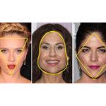 Základní tvary obličeje: trojúhelníkový, hruškovitý a kosočtvercový